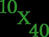 10x40 design